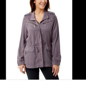 Lilac utility jacket